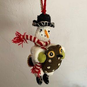 ⛄️Snowman & Owl Ornament